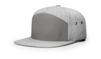 Image 7 Panel Twill Leather Strap back