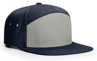 Image Richardson 7 Panel Twill Leather Strap Back