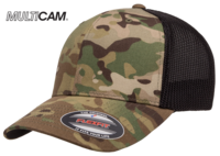 Image Yupoong Flexfit MultiCam Cotton Camo Trucker Mesh