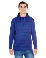 Image J America Adult Odyssey Striped Poly Fleece Pullover Hood