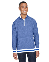 Image J America Adult Peppered Fleece Quarter-Zip