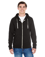 Image J America Adult Triblend Full-Zip Fleece Hood