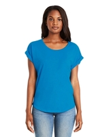 Image Next Level Ladies Dolman with Rolled Sleeves