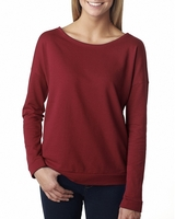 Image Next Level Ladies French Terry Long-Sleeve Scoop
