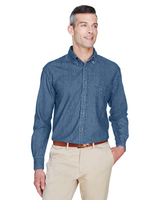 Image Harriton Mens 6.5 oz. Long-Sleeve Denim Shirt