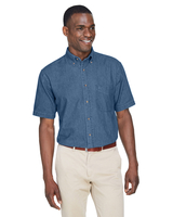 Image Harriton Mens 6.5 oz. Short-Sleeve Denim Shirt