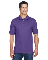 Image Harriton Mens 6 oz. Ringspun Cotton Pique Short-Sleeve Polo