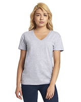 Image Next Level Ladies Relaxed V-Neck T-Shirt