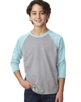 Image Next Level Youth CVC 3/4-Sleeve Raglan