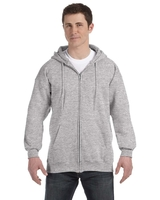 Image Hanes Adult 9.7 Ounce Ultimate Cotton® 90/10 Full-Zip Hood