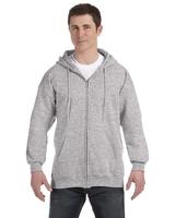 Image Hanes Adult 9.7 Ounce Ultimate Cotton® 90/10 Full-Zip Hood