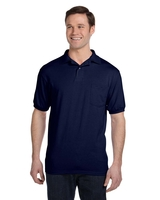 Image Hanes Adult 5.2 Ounce 50/50 EcoSmart® Jersey Pocket Polo