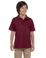 Image Harriton Youth 6 oz., Ringspun Cotton Piqué Short-Sleeve Polo