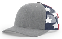Image Richardson 6 Panel Trucker Printed Stars & Stripes Mesh Back