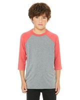 Image Bella + Canvas Youth 3/4-Sleeve Baseball T/Shirt