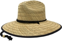 Image Mega Lifeguard Straw with Floral Underbrim