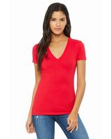 Image Bella + Canvas Ladies' Jersey Short-Sleeve Deep V-Neck T-Shirt