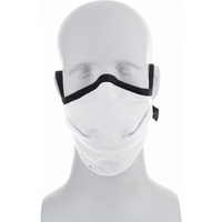 Image Reusable Moisture Wicking Anti Viral-Anti Bacterial White/Black Face Mask