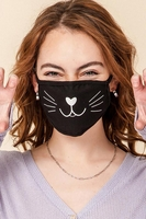 Image 2-Layer Cat Face Washable Reusable (Pack of 10) $20.00=$2.00 each