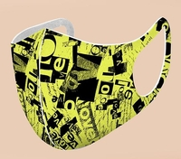 Image 3D Washable Reusable Premium Yellow Graphic (Pack of 10) $44.00=$4.40 each