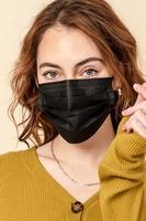 Image Disposable Black Masks (Pack of 50) $30.00=$0.60 each