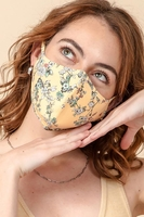 Image 3-Layer Floral Face Cover Washable Reusable (Pack of 10) $30.00=$3.00 each