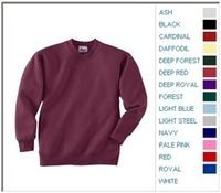 Image Blank Shirts : Hanes 7.8 oz 50/50 Youth Crewneck