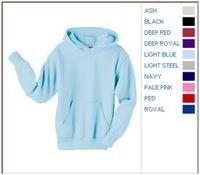 Image Blank Shirts : Hanes 7.8 oz 50/50 Youth Pullover Hood