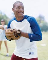 Image Champion 5.7 oz Cotton Tagless Raglan Baseball Jersey