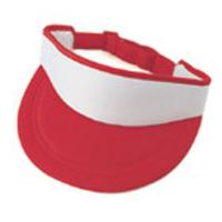 Image Budget Caps | Nissun-White Front Poly Foam Sun Visor
